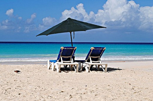 Barbados has pretty white sand beaches within a few miles of the cruise port.