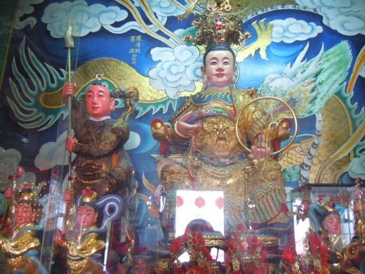 """Altar dedicated to Nezha in Taiwan. """"The """"Third Prince"""" is one of the most widely worshiped Chinese mythological gods."""