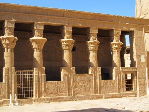 Interior of Philae Temple - Egypt