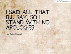 No Apology From Your Partner