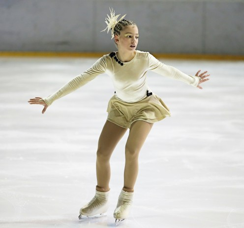 This photo symbolizes one of the things that Inspector Gadget is teaching his niece how to do and that is to learn how to do figure skating.