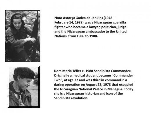 Nicaraguan Guerrilla Women of Prominence