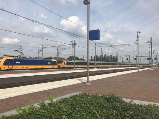An intercity direct train in the Netherlands at trainstation Breda.