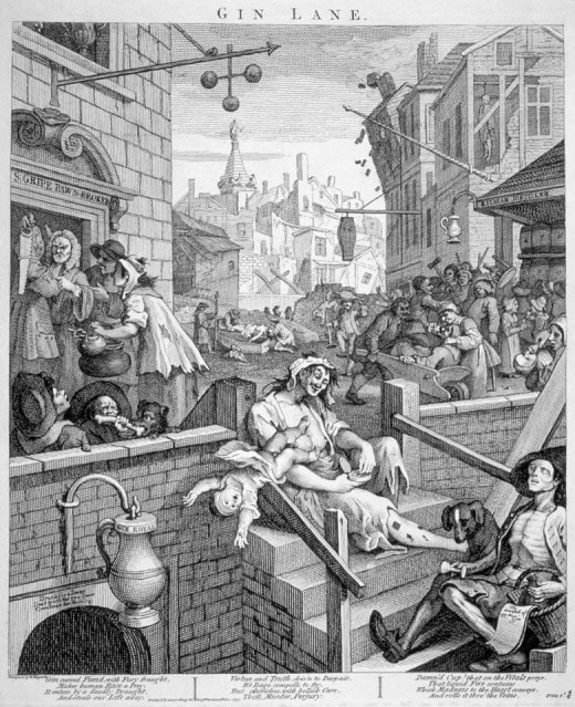 Gin Lane, by William Hogarth