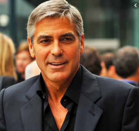 The pinnacle of self-care for older men—George Clooney.