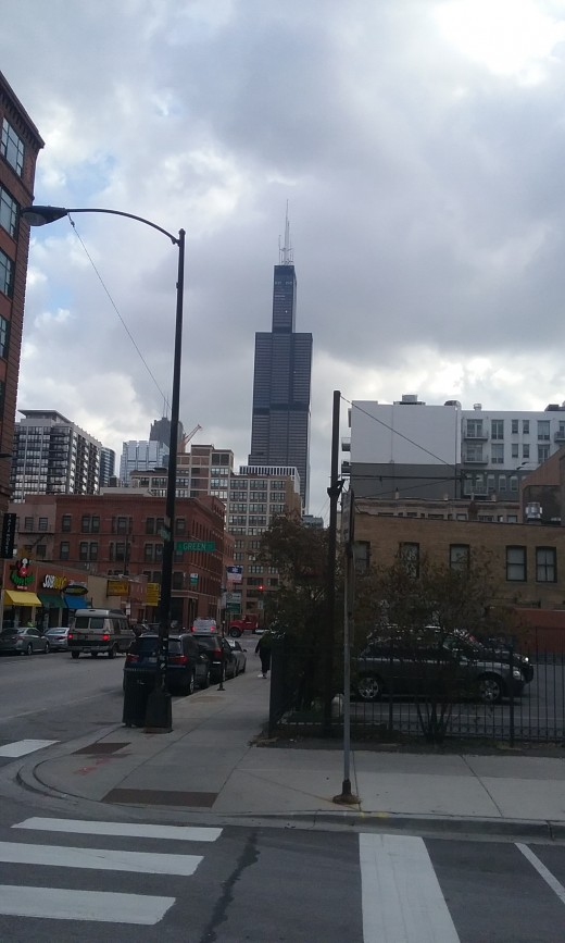 Willis Tower as seen from Greektown
