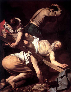 """""""Crucifixion of St. Peter"""" by Caravaggio"""
