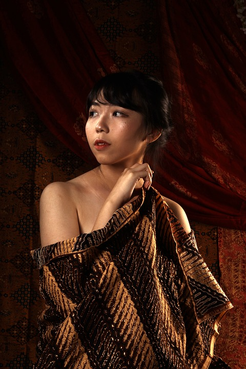 Batik Indonesia Traditional People Style Material