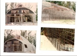 Building bunker off grid homes by hand creates jobs while saving lives