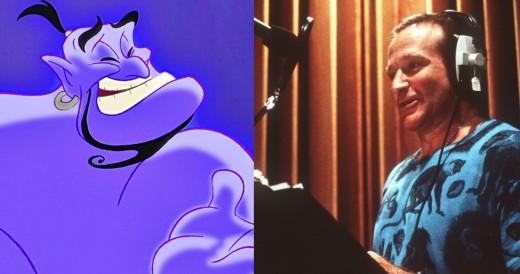 Robin Williams as the Genie in Aladdin.