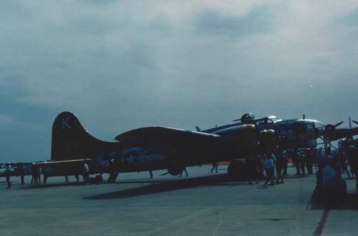 A B-17 at Andrews AFB, May 1991