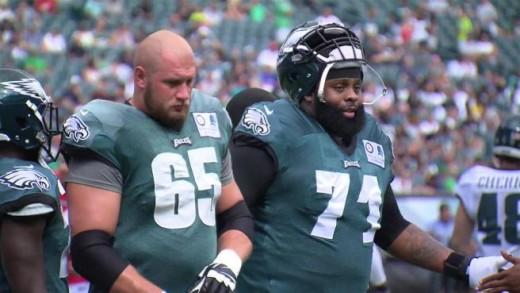 Philadelphia Pro Bowl Tackles Lane Johnson (L) and Jason Peters (R)