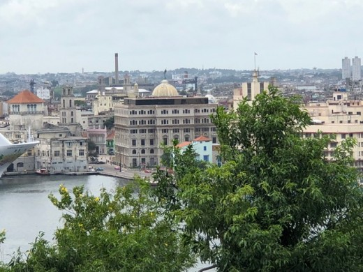 Cuban skyline viewed from Estatua de Cristo park in Havana.