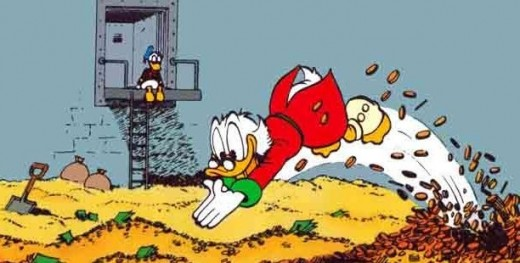 swimming in redistributed wealth