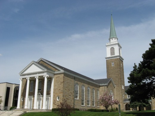 First Presbyterian Church of Lansing featuring just a touch of early New England influence