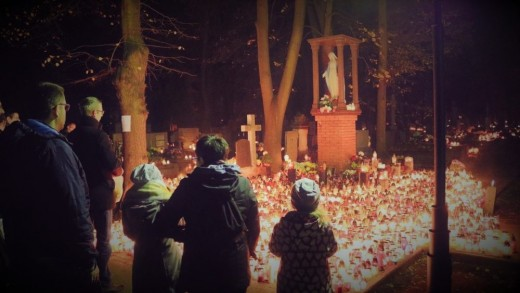 Traditional Day of the Dead celebration ... in Poland.