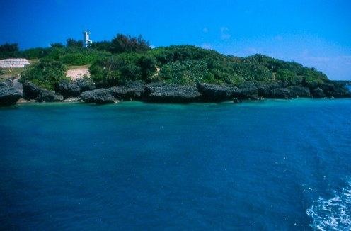 Approaching Kudaka-jima by ferry.