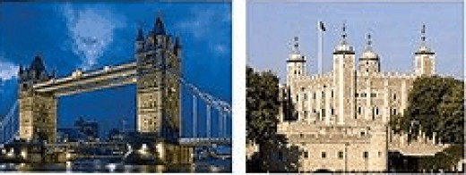The Tower Bridge (left) and the Tower of London (right) (http://en.wikipedia.org/wiki/London)