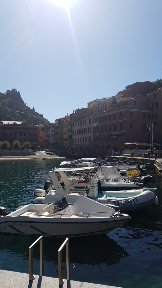 View of Vernazza from the harbor