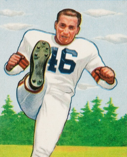 "Lou ""The Toe"" Groza's 1950 playing card."