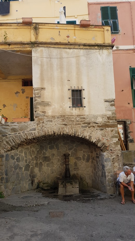 Drinking water faucet in the Mainstreet of Vernazza