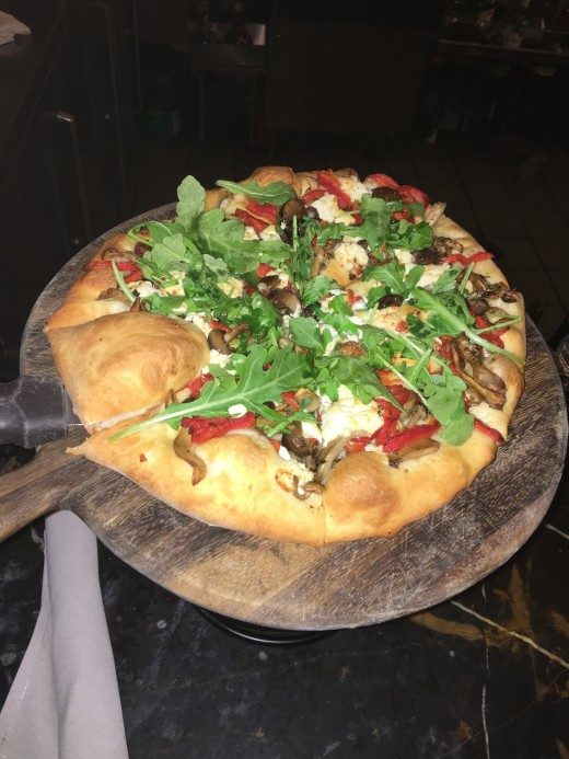 Pizza:  Goat Cheese & Foraged Mushrooms