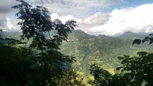 Lush green hills, blue sky, clouds - finding solace in the lap of nature