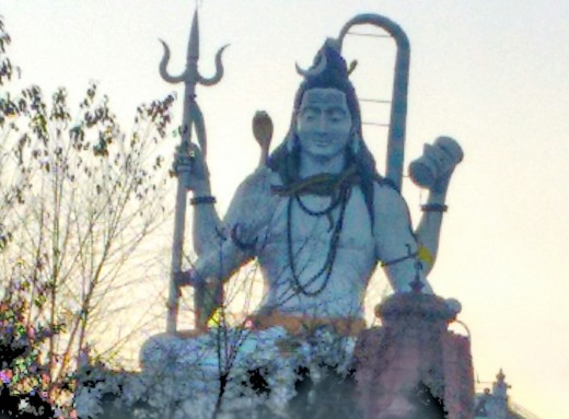 The Shiva statue in the sitting position