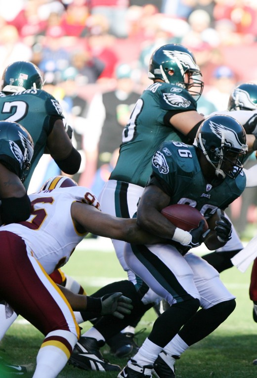 Philadelphia Eagles running back Brian Westbrook against the Washington Redskins