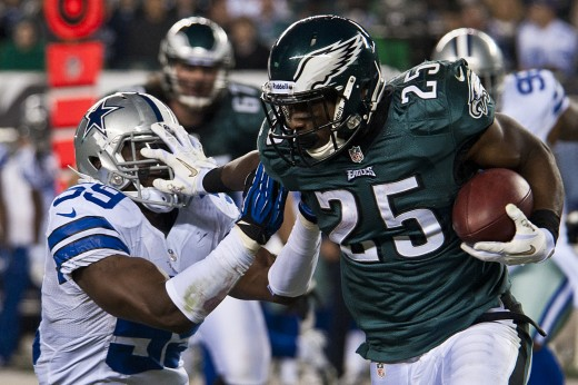 Philadelphia Eagles running back LeSean McCoy against the hated Dallas Cowboys