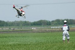 Drone Helicopters for Spraying Crops in Japan