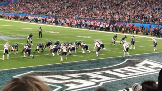 The Philadelphia Eagles during their Super Bowl LII win over the New England Patriots