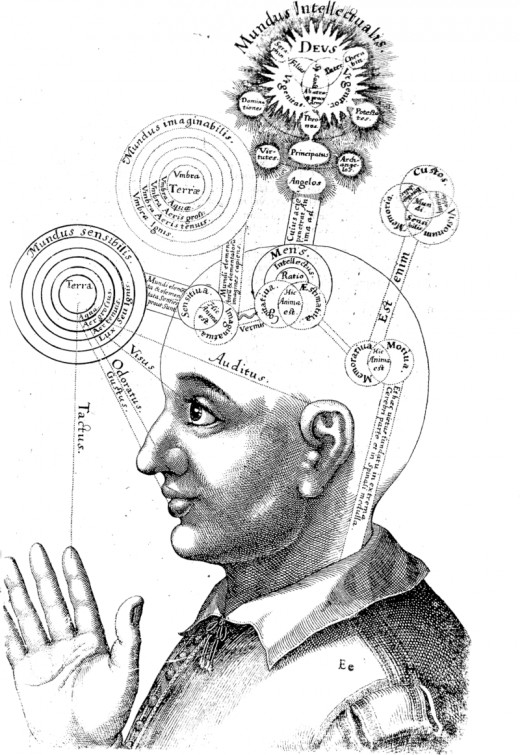 Illustration from the Utriusque Cosmi[...] by Robert Fludd (ca. 1617); courtesy of Wikimedia Commons. Work is in the public domain.