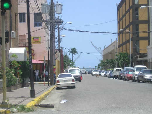 King Street in downtown Kingston.  Photo by Glendon Caballero.