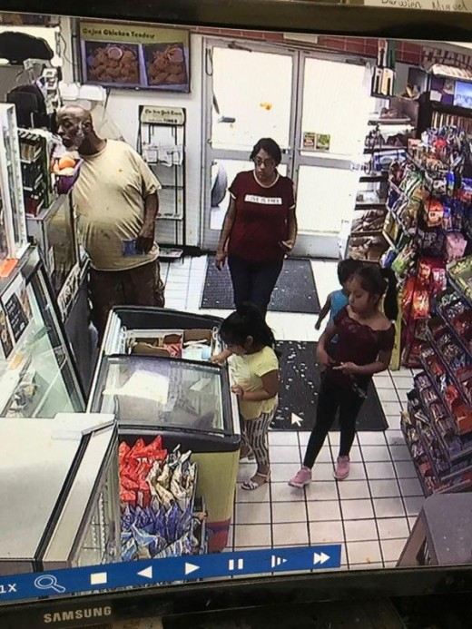Video surveillance from the Sunoco convenience store shortly before Dulce vanished.