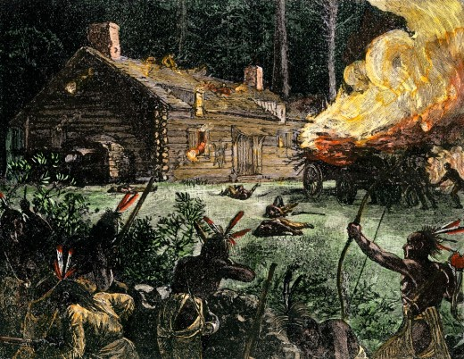 Artistic Rendition of Events Within King Phillip's War