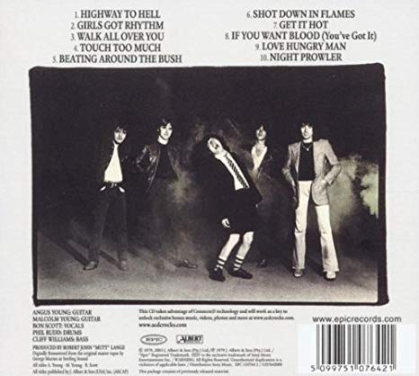 Rear Cover of UK/US LP release
