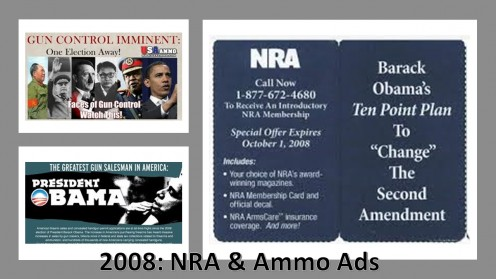 Past NRA and Ammo sales ads