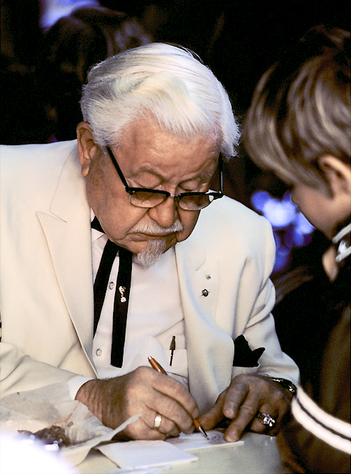 Col. Sanders, founded Kentucky Fried Chicken at the age of 62.