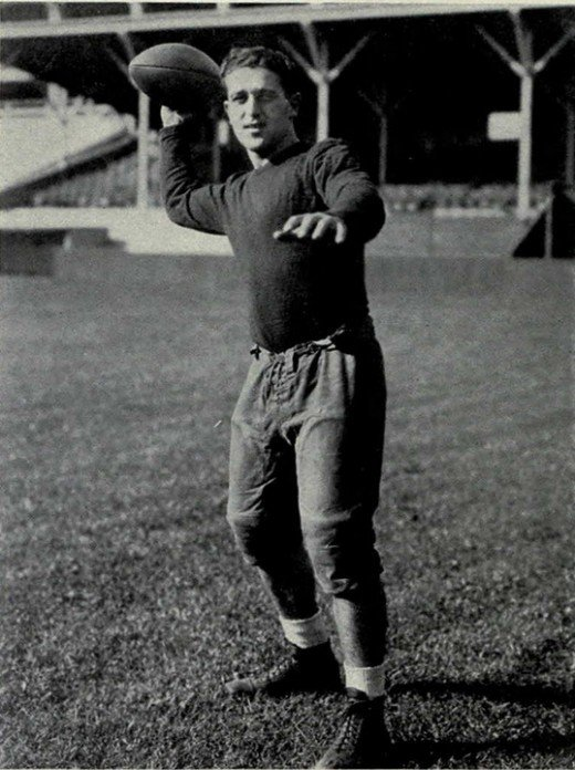 Giants 1933 rookie quarterback Harry Newman had starred at the University of Michigan