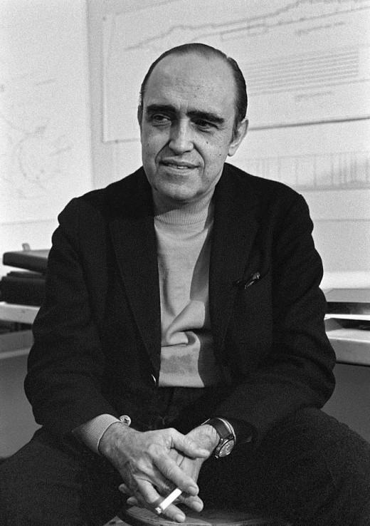 Oscar Niemeyer, mastermind of Brasilia.  Although a smoker he died just ten days short of his 105th birthday!