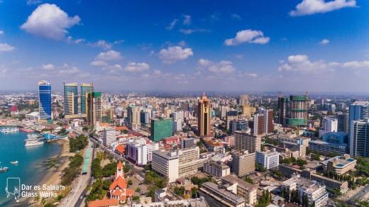 Dar es Salaam, bustling Indian Ocean port and former capital of Tanzania