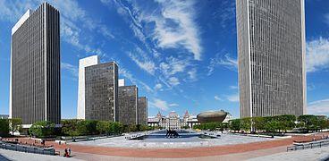 Albany Mall reflecting obvious influences from Brasilia and Washington