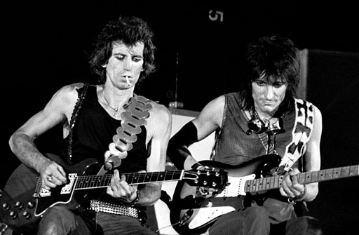 Keith Richards and Ron Wood, 1982