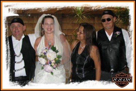 biker wedding dress