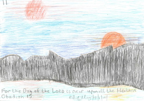 For the Day of the LORD is near upon all the Heathen, Obadiah 15, drawn out on Friday the 18th January, 2019.