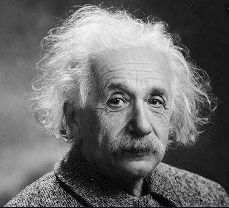 Portrait of the great physicist Albert Einstein