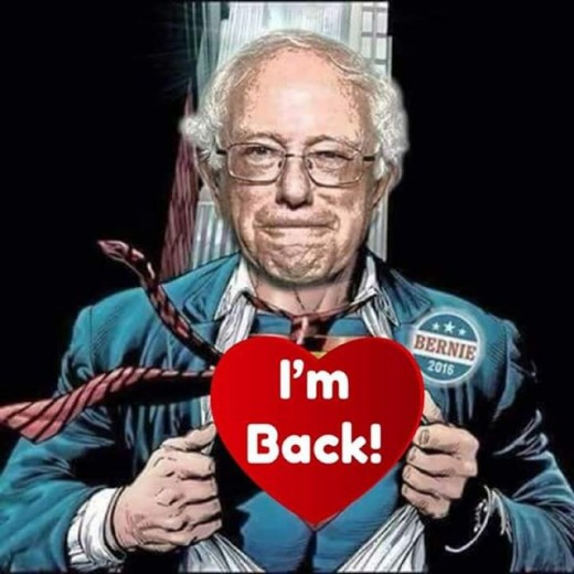 All the news stations commented on Bernie's energy and drive as they sympathized with his recent hospitalization.