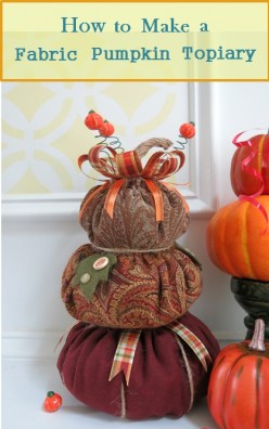 How to Make a Fabric Pumpkin Topiary
