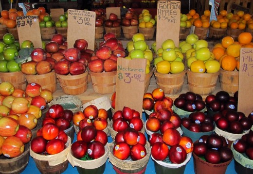 Apples, plums and other fruits are now in season